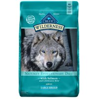 Blue Buffalo Wilderness High Protein Grain Free, Natural Adult Large Breed Dry Dog Food, Salmon, 24-lb