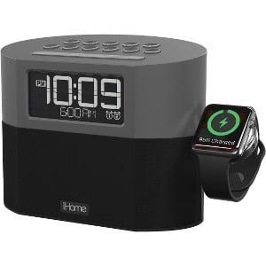 iHome iWBT400 Desktop FM Clock Radio - 2 Alarms - USB - Microphone, (Top 10 Best Alarm Clocks)