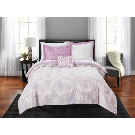Mainstays Brush Stroke Ogee Bed in a Bag Coordinating Bedding Set ()