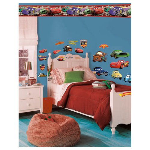 Wallhogs Disney Cars Piston Cup Champs Room Makeover Wall Decal