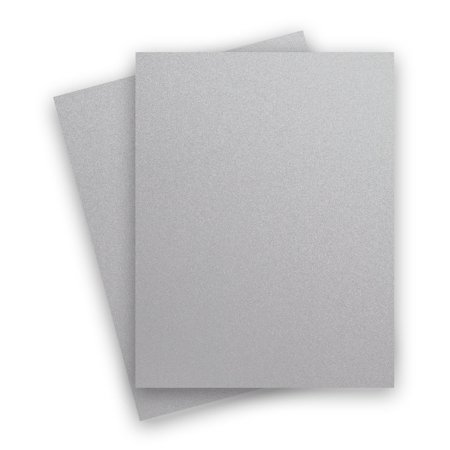 Metallic Silver Galvanised 8-1/2-x-11 Cardstock Paper 25-pk -- PaperPapers 300 GSM (111lb Cover) Letter size Card Stock Paper - Business, Card Making, Designers, Professional and DIY -