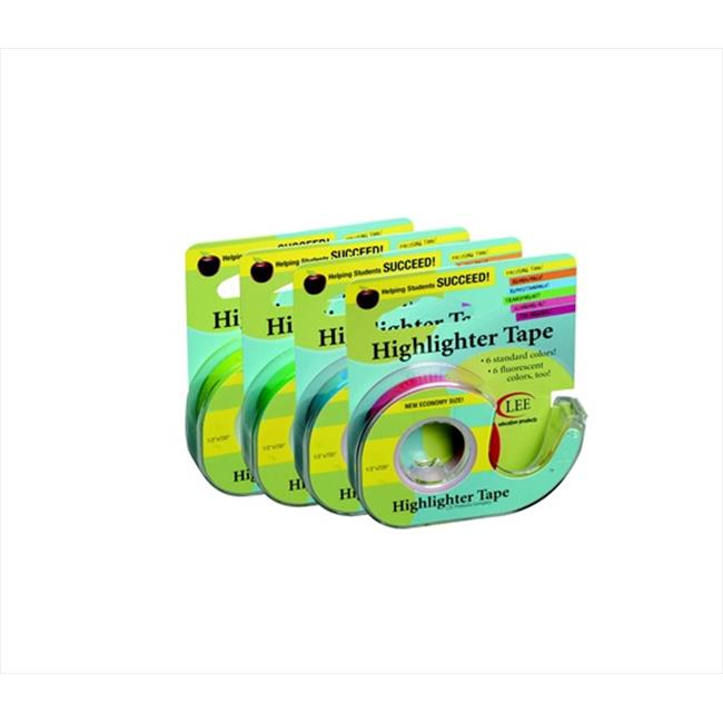 Lee Products 079441 3-Line Removable Wide Highlighter Note Tape, Blue