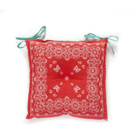 The Pioneer Woman Bandana Reversible Chairpad Red