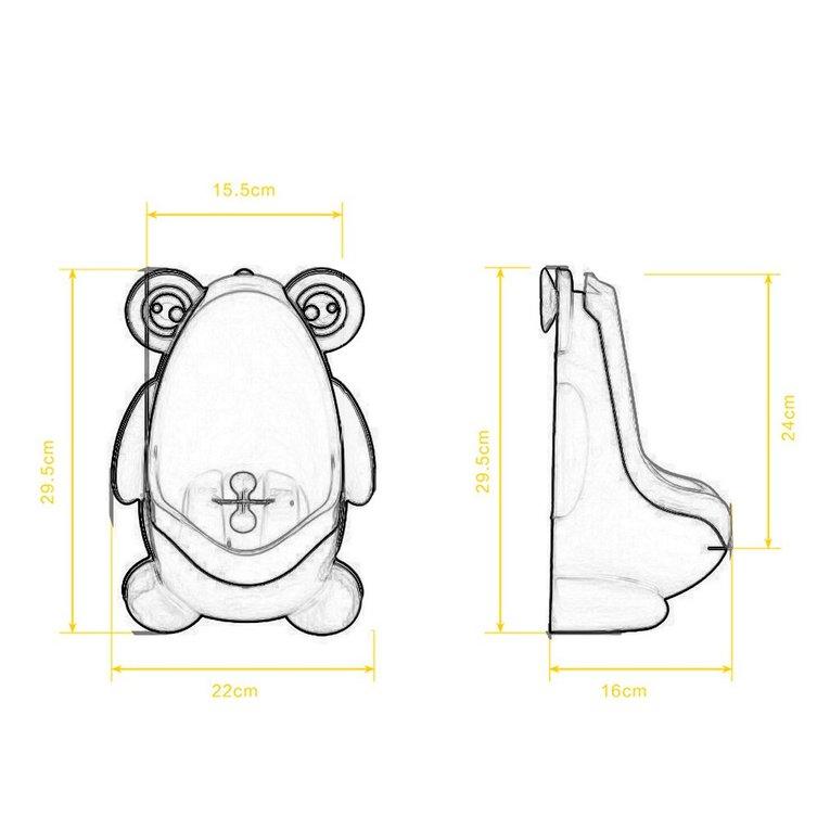 ICOCO Frog Boy Kids Baby Toilet Training Children Potty Pee Urine Home Bathroom