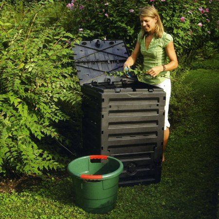 Exaco Eco Master 450 Recycled Plastic 120-gal. Compost Bin