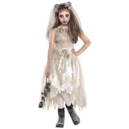 Dead Bride Costumes For Kids (Crypt Bride Child Costume -)