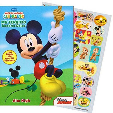 Mickey Mouse 144 Page Coloring And Activity Book With Over 30 Stickers. - Mickey Mouse Coloring Books