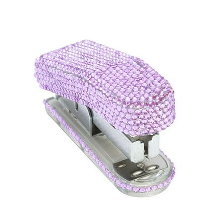 Medium Crystals Rhinestone Portable Stapler Staples Desk Office Supplies