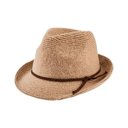Women's San Diego Hat Company Knit Fedora with Faux Suede Band CTH8071](Suede Fedora)