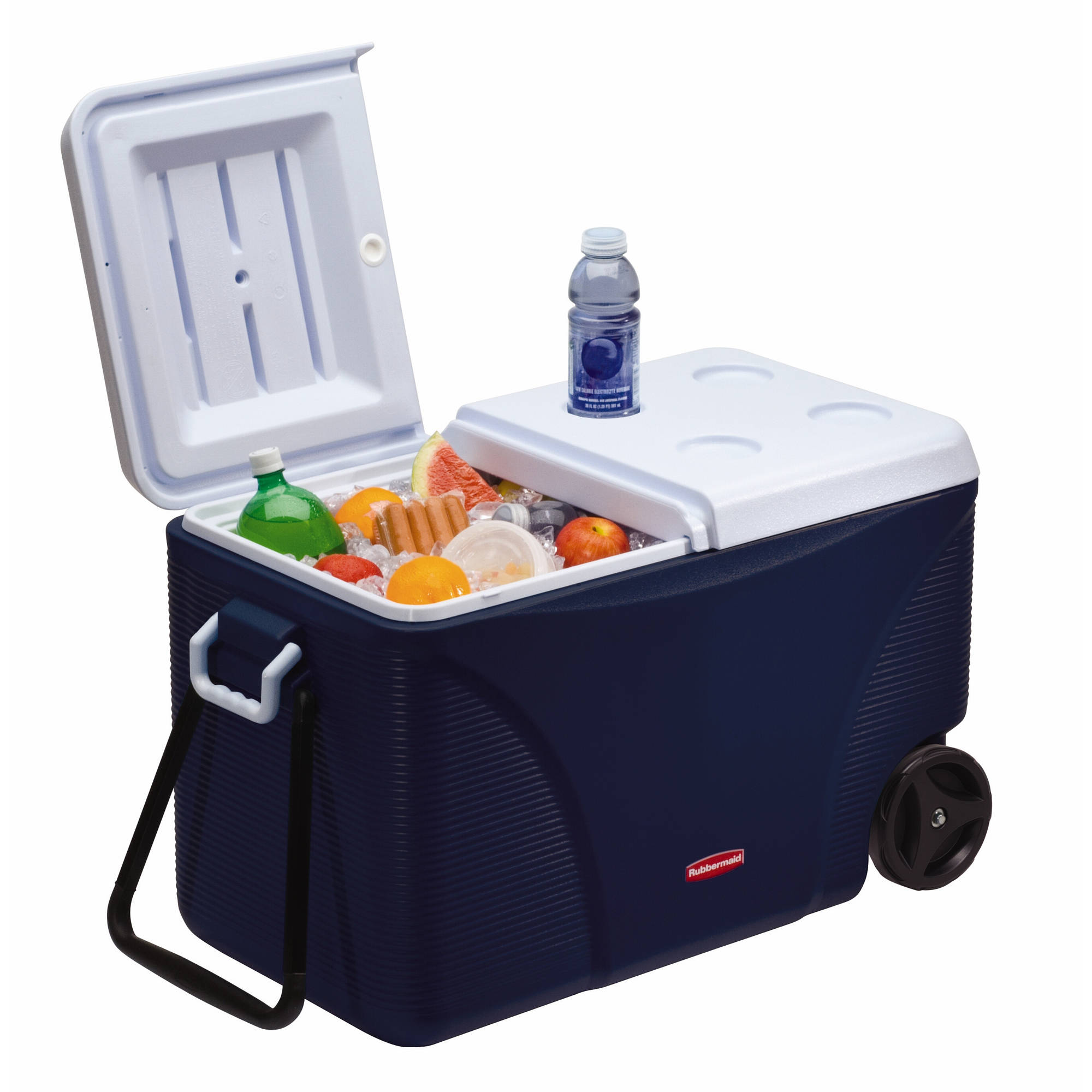 Rubbermaid 75 qt 5-Day Wheeled Ice Chest, Blue