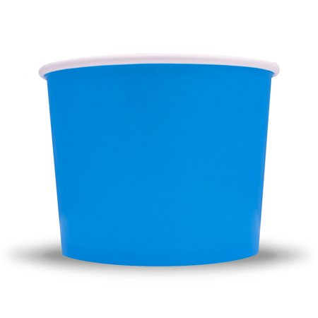 Frozen Dessert Supplies 16 oz Blue Ice Cream Cups - Comes In Many Colors & Sizes! Fast Shipping! 50 Count