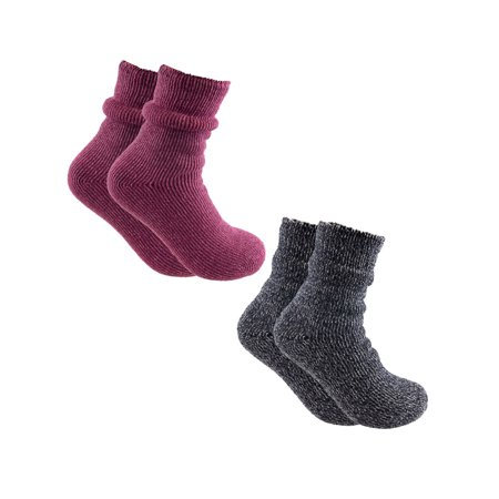 Polar Extreme Socks (2 Pairs) Cold Weather Socks, Winter Socks, Warm Thermal Socks Women, Teens, Kids, Fuzzy Socks, Cozy Socks in Crew Socks Style - Teen Socks