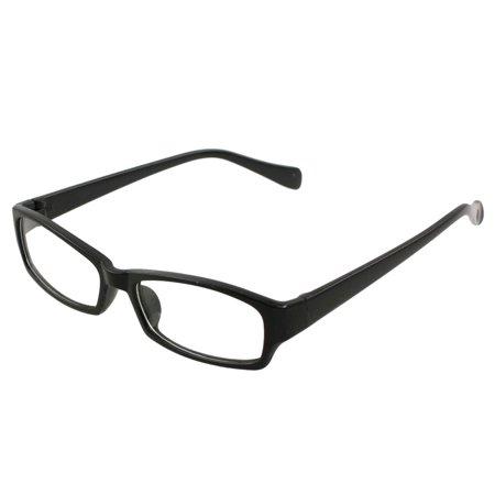 Unisex Single Bridge Rectangle Frame Clear Lens Eyewear Glasses Spectacles (Rectangle Frame Glasses)