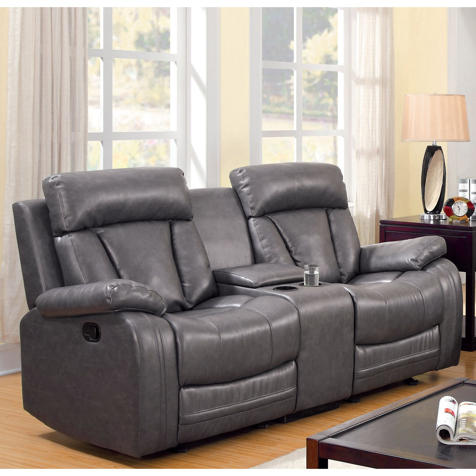 furniture love products loveseat seat wide and console with reclining holders cup power extra storage