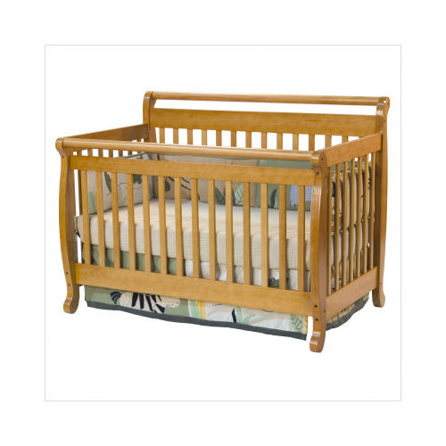 Bundle-22 DaVinci Emily Honey Oak Convertible Crib with Toddler Rail (Set of 2)