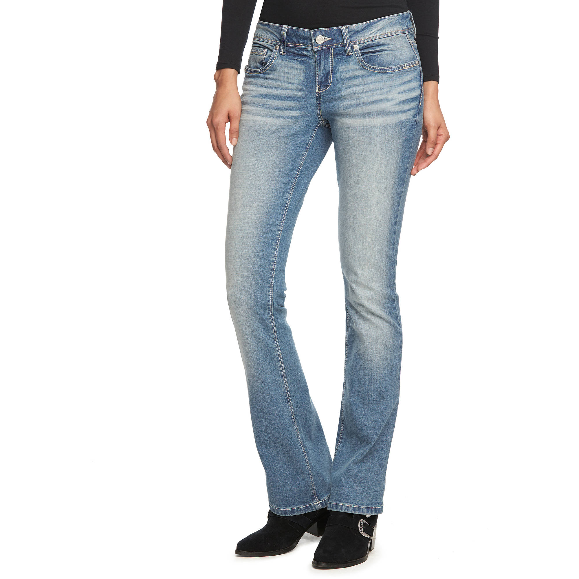 L.E.I. Juniors' Ashley Slim Bootcut Jeans Review & Price Compare 8746