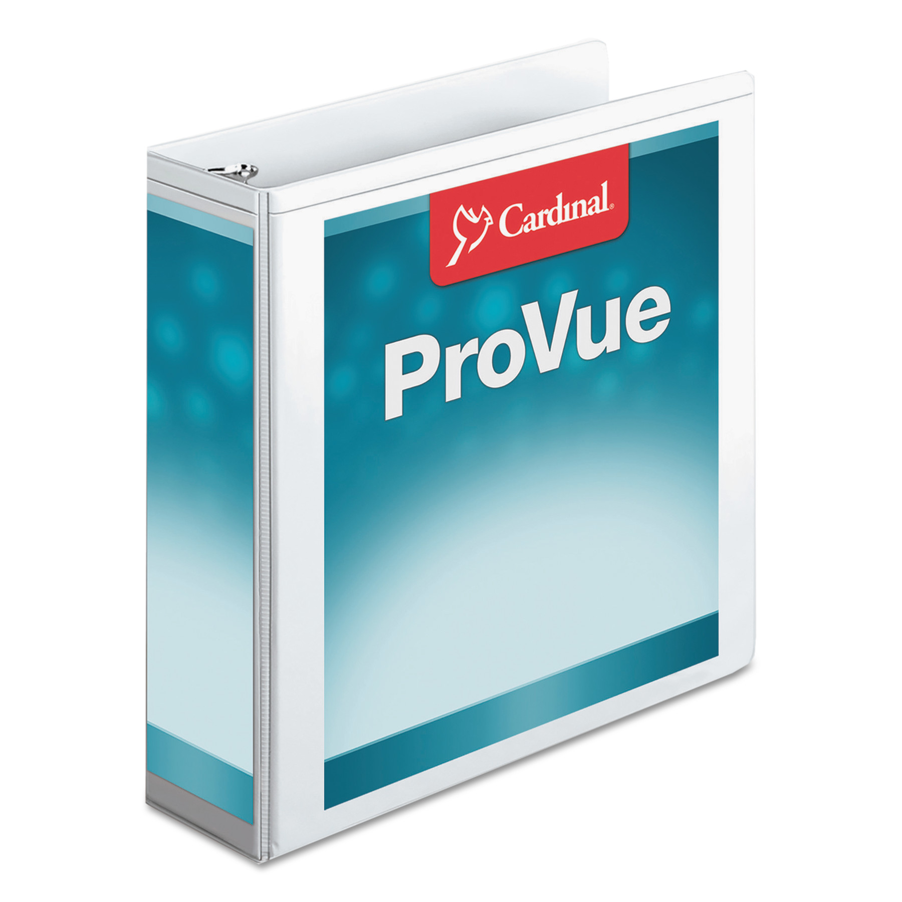"Cardinal Nonstick ProVue Round Ring View Binder, 3"" Capacity, White"
