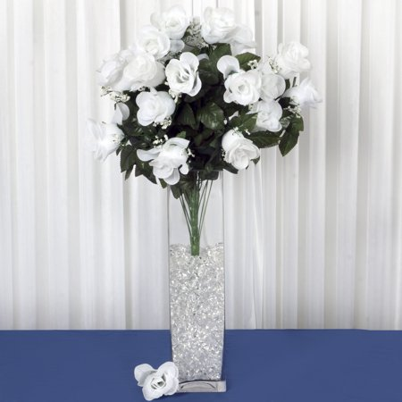 BalsaCircle 96 Extra Large Silk Roses Buds - DIY Home Wedding Party Artificial Bouquets Arrangements Centerpieces
