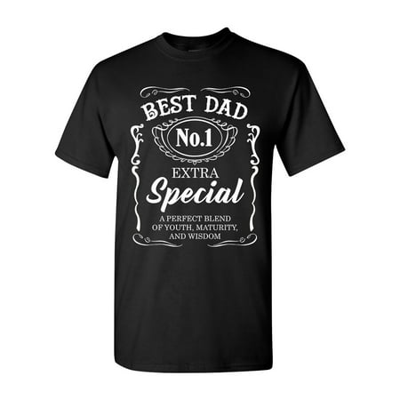 Best Dad No.1 Extra Special Awesome Funny Humor DT Adult T-Shirt