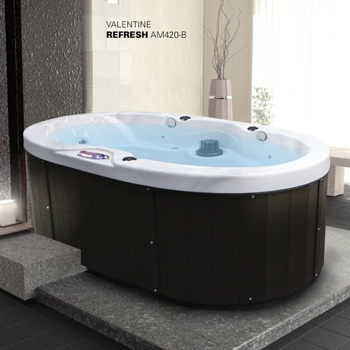 American Spas Valentine 2 Person 20 Jet Plug And Play Spa With Bluetooth  Stereo