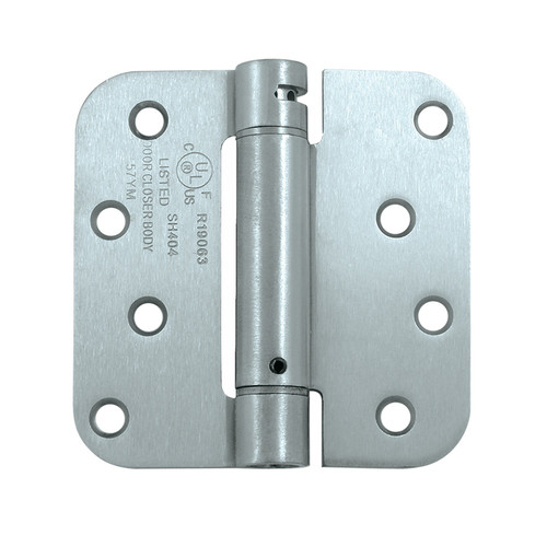 Deltana 4'' H x 4'' W Steel Single Spring Door Hinge