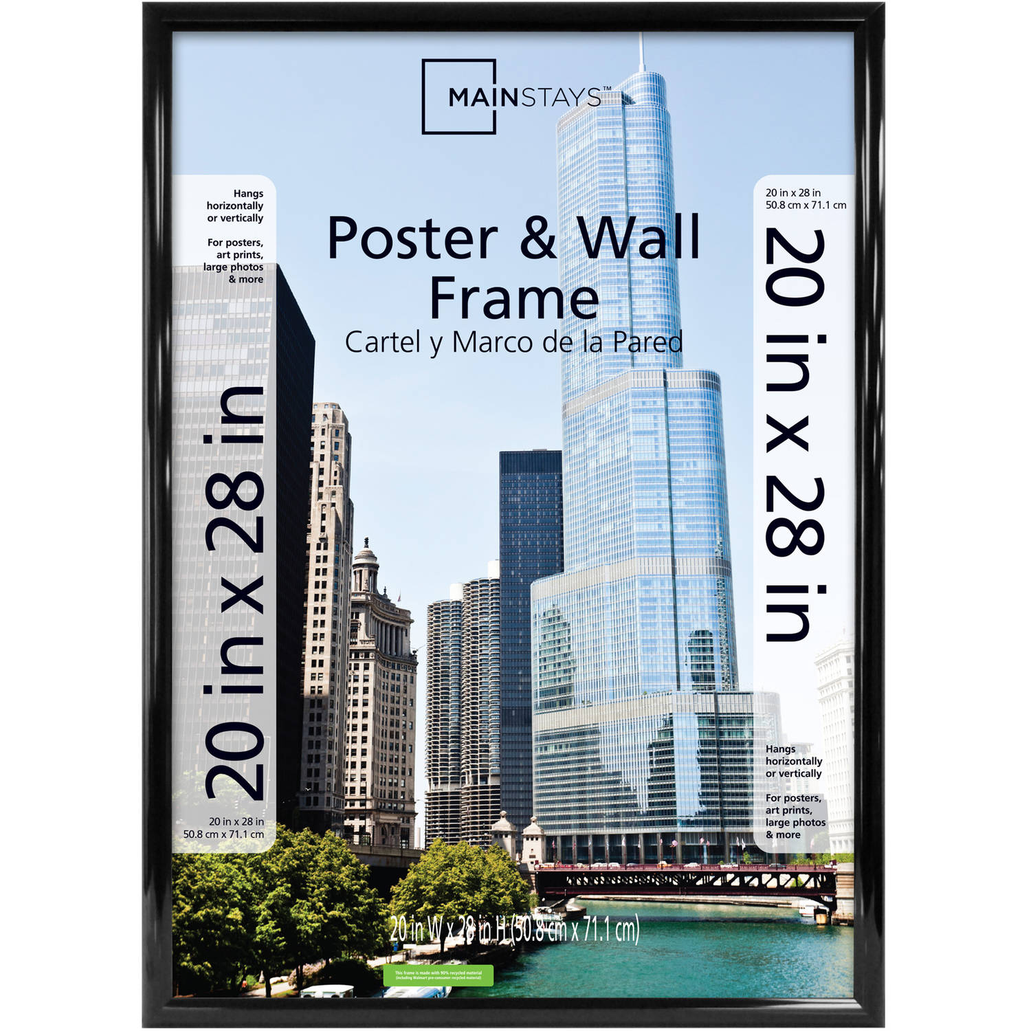 Mainstays 20x28 Trendsetter Poster and Picture Frame, Black