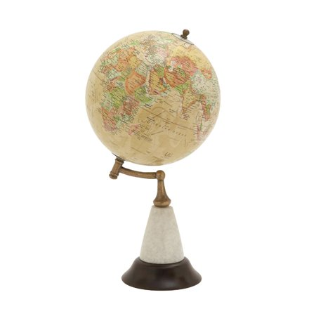 Marble Globe Paperweight (Amazing Wood Metal Marble Globe)