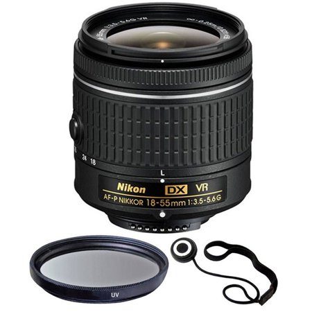 Nikon 18-55mm f/3.5 - 5.6G VR AF-P DX Nikkor Lens for Nikon D5500, D5300,