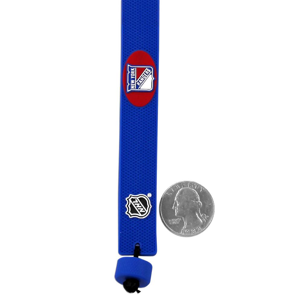 NHL SAN Jose Sharks Team Color Gamewear Leather Hockey Bracelet - image 1 de 2