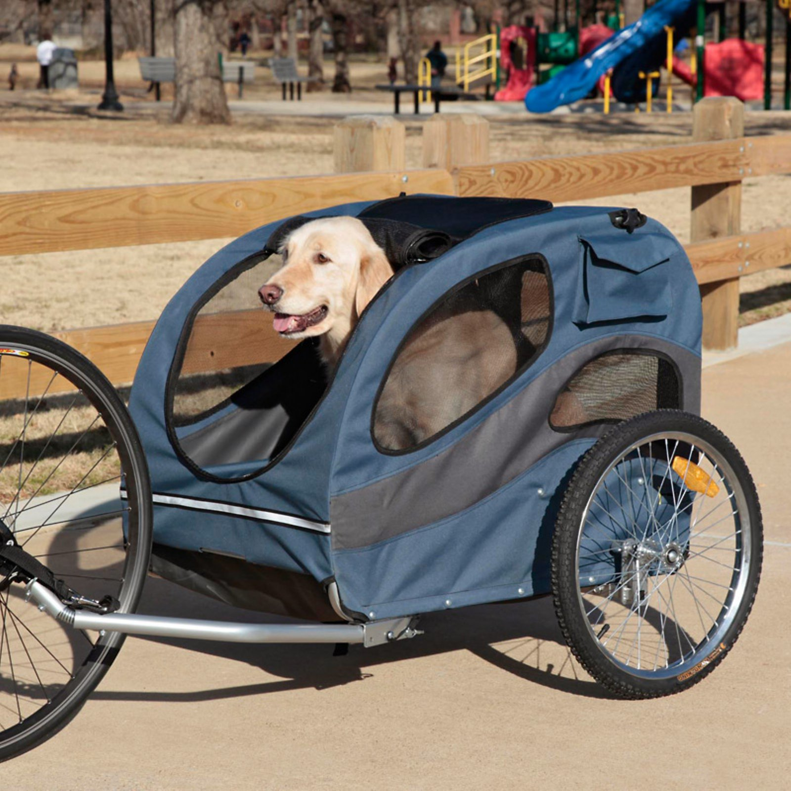 Solvit HoundAbout Aluminum Pet Bike Trailer