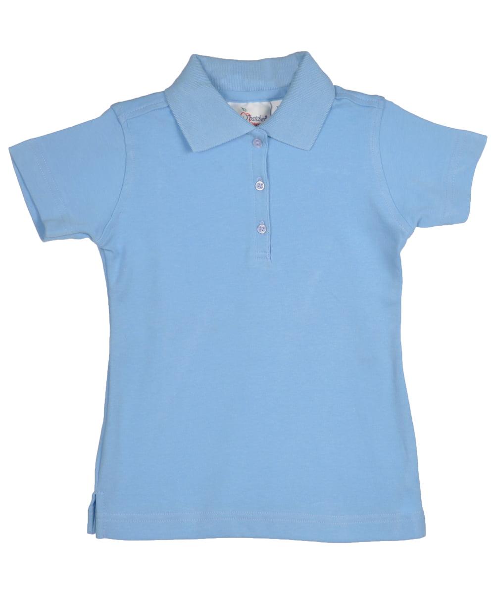 Elderwear Little Girls' S/S Knit Polo (Sizes 4 - 6X)