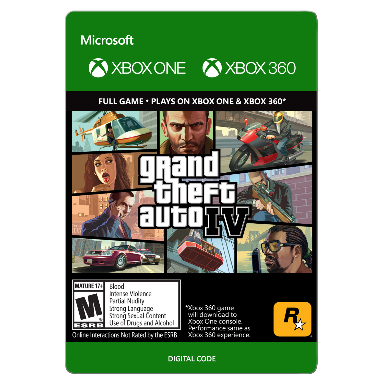 Xbox 360 Grand Theft Auto IV (Email Delivery)