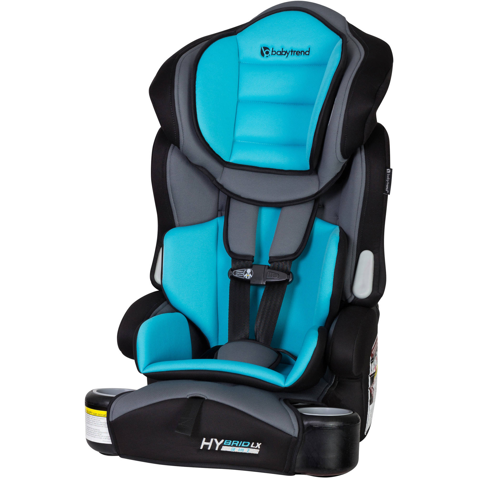 Baby Trend Hybrid LX 3-in-1 Harness Booster Car Seat, Capri Breeze