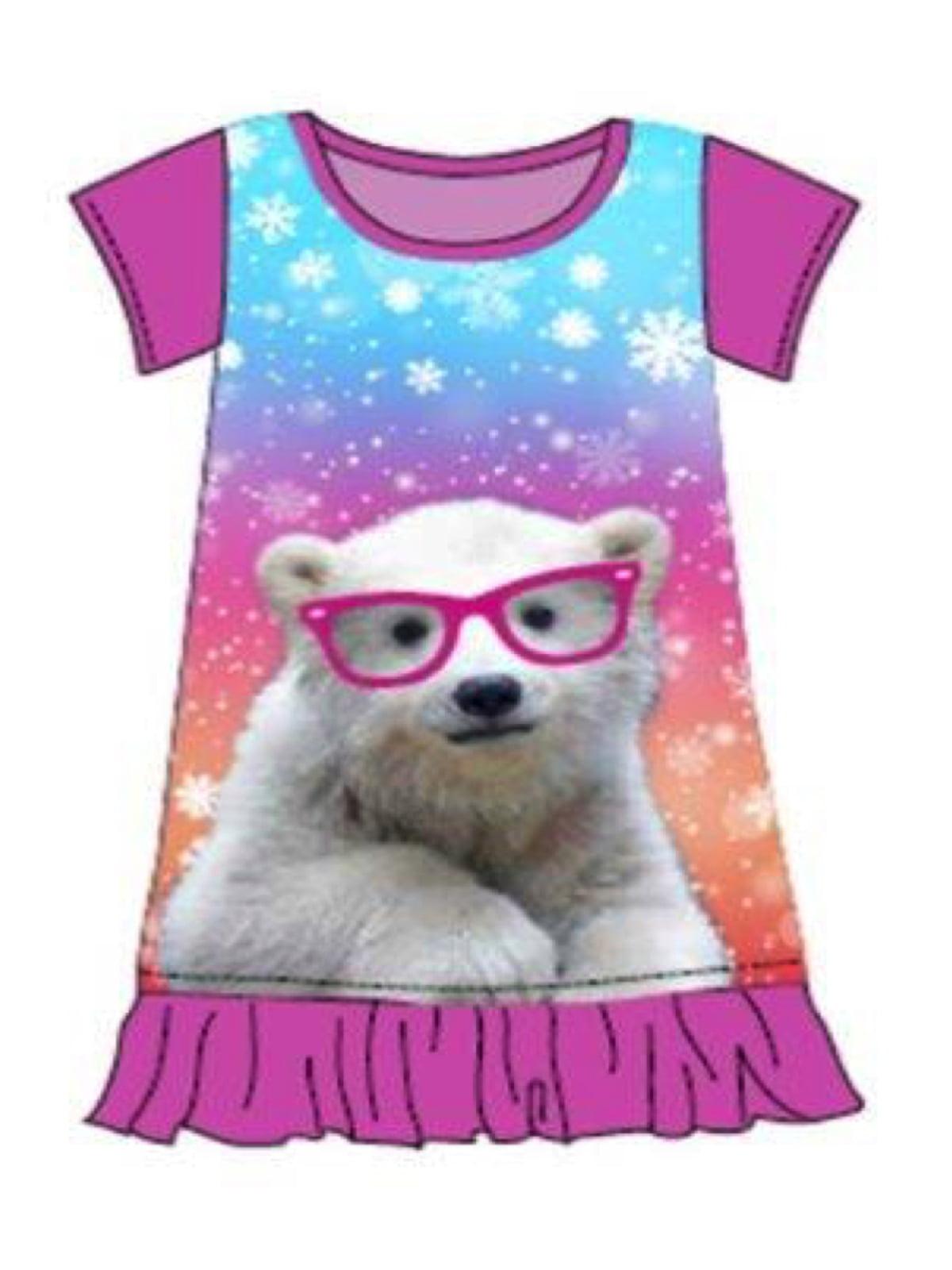 Little Big Girls Animal Character Christmas Nightgowns c0854aa71