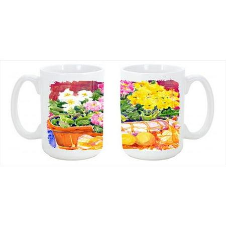 Flower - Primroses Dishwasher Safe Microwavable Ceramic Coffee Mug 15 oz. - image 1 de 1