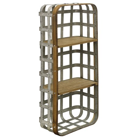 Industrial - Functional Wall Hanging Metal and Wood Shelf
