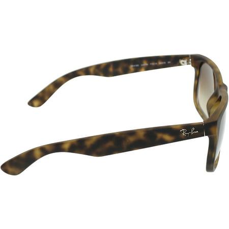 c379bd7108 Ray-Ban Men s Justin RB4165-710 13-54 Brown Wayfarer Sunglasses ...