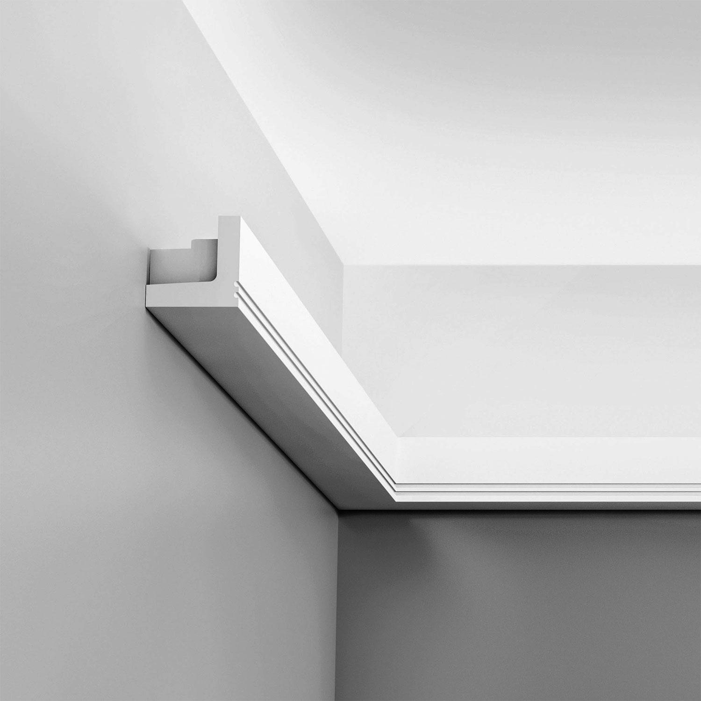 Orac Decor C212 High Density Polyurethane Crown Moulding 4in Sample Piece Primed White