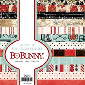 Bo Bunny Star-Crossed Paper Pad, 6 by 6-Inch, 36-Pack Multi-Colored
