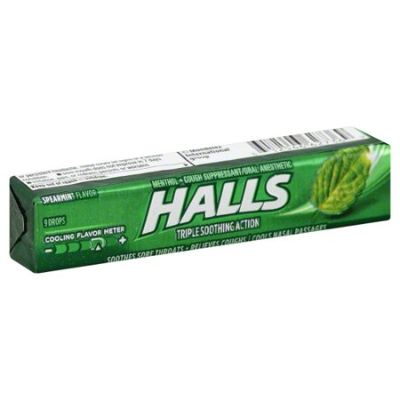 Mondelez Halls Cough Suppressant/Oral Anesthetic, 9 ea