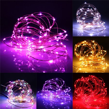 10M 100 LED String Fairy Light Night Lamp Copper Wire For Indoor Outdoors Christmas Wedding Party Curtain Decoration DC12V Waterproof - Copper Decorations