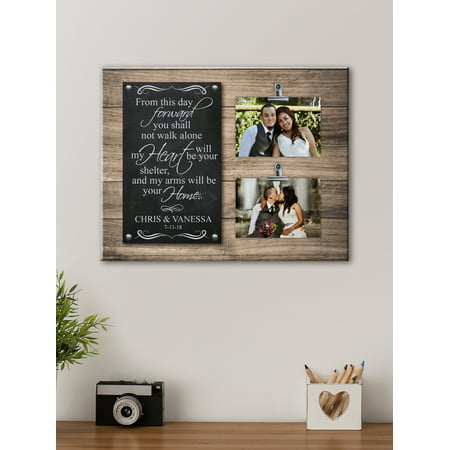Personalized Heart and Home Photo Wedding Canvas, Available in 3 Sizes