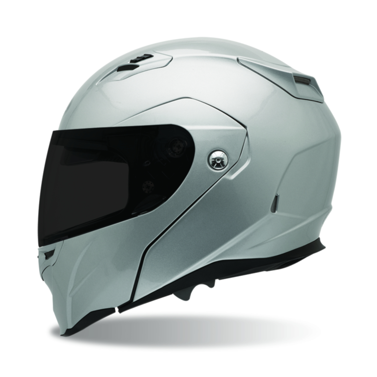 Bell Powersports Revolver EVO Modular Helmet Solid Colors Metallic Silver XL  2033314