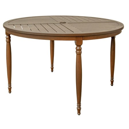 Aluminum Slat Table - Arabella Aluminum 48 Inch Round Patio Dining Table W/ Slat Top By Lakeview Outdoor Designs