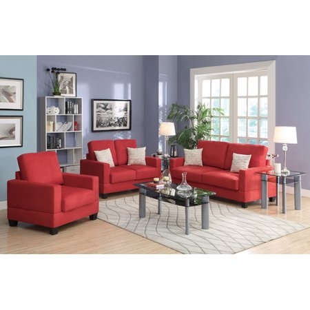 Admirable Poundex Bobkona Madison 3 Piece Sofa And Loveseat With Chair Evergreenethics Interior Chair Design Evergreenethicsorg