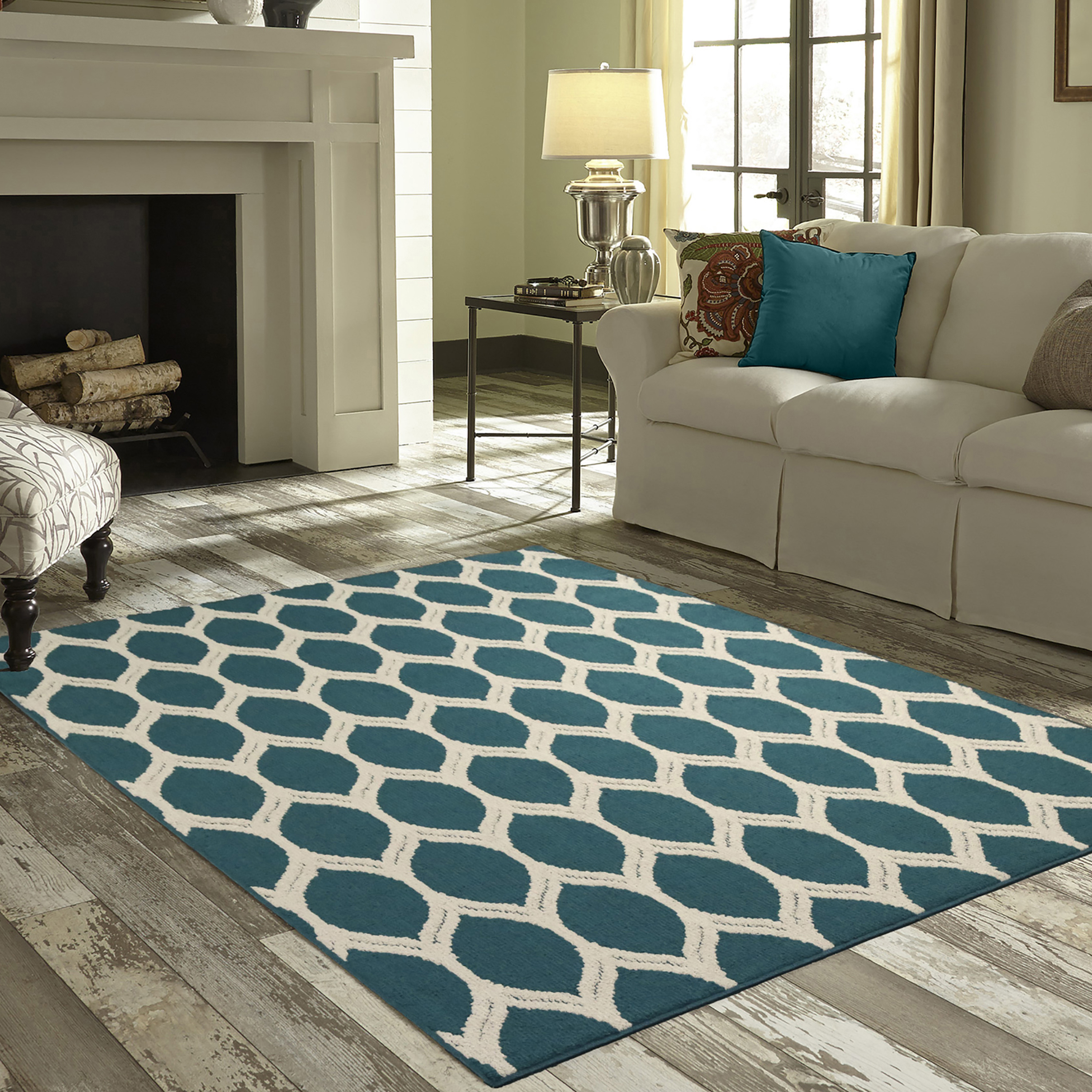 mainstays sheridan ogee area rugs or runner