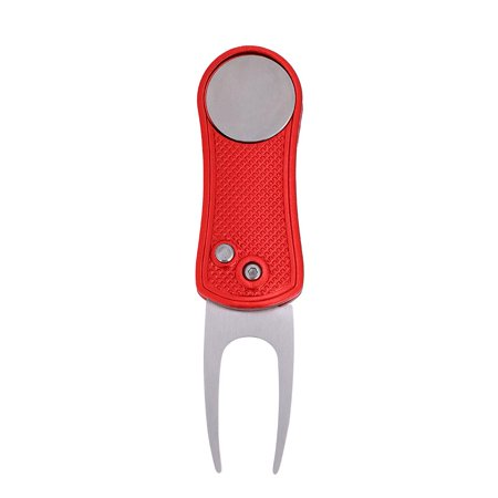 LHCER Metal Foldable Divot Golf Pitch Repair Ball Marker Golfer Switchblade Tool ,Golf Accessory, Golf Divot Repair Tool Golf Golfer Belt