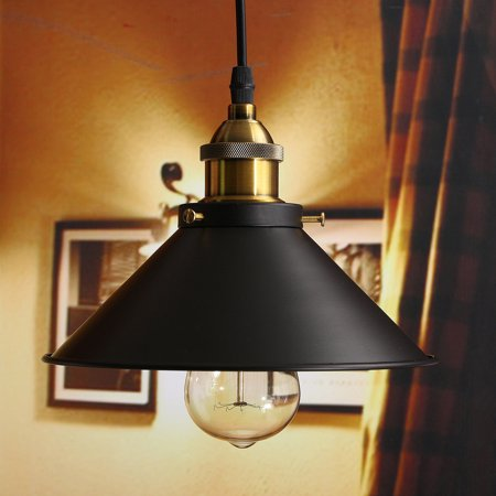 Retro industrial vintage iron hanging ceiling lamp chandelier retro industrial vintage iron hanging ceiling lamp chandelier pendant light fixture lampshade aloadofball Gallery