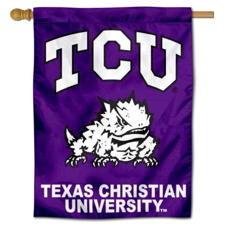 """TCU Horned Frogs 30"""" x 40"""" House Flag and Banner"""
