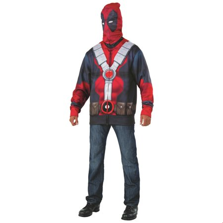 Deadpool 2 Mens Classic Deadpool Hoodie Halloween Costume